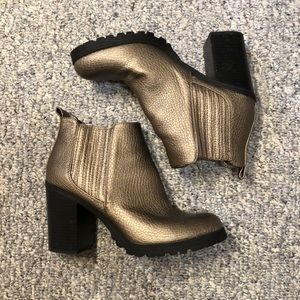 Sam & Libby Bronze ankle boots